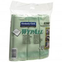 Ջնջոցներ միկրոֆիբրայից WypAll (կանաչ)